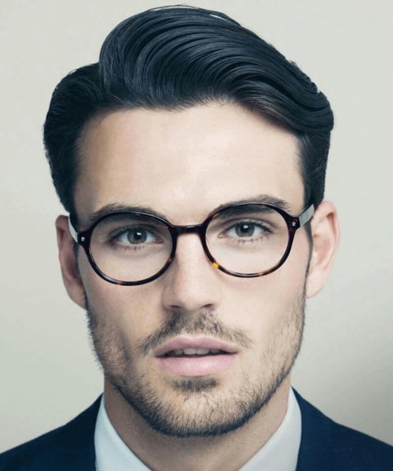 kiểu tóc cho nam kính cận