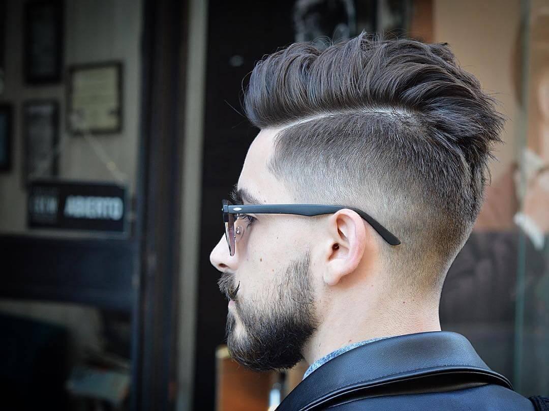 kiểu tóc nam kính cận